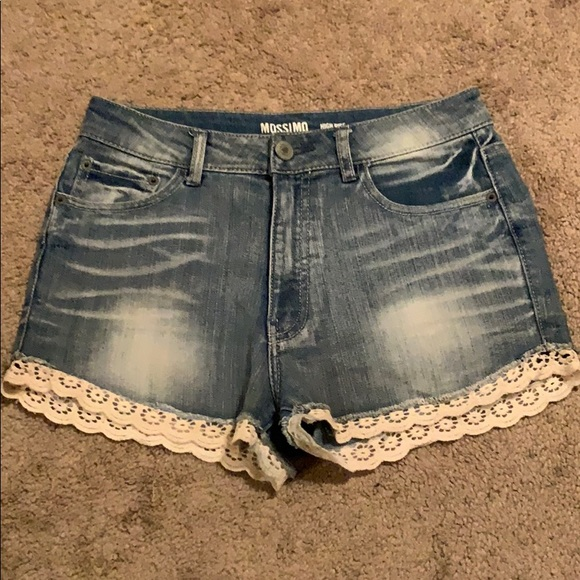 Mossimo Supply Co. Pants - Jean shorts with lace